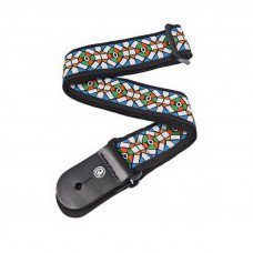 Ремень для гитары Planet Waves PW50E02 Woven Guitar Strap, Stained Glass