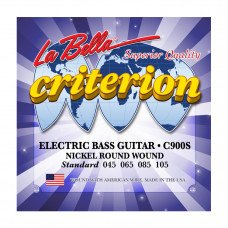 La Bella C900S Criterion Electric Bass, Nickel-Plated Round Wound – Standard