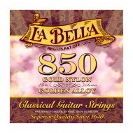 La Bella 850 Elite – Gold Nylon, Golden Alloy