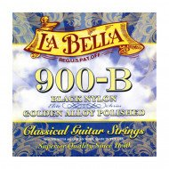 La Bella 900-B Elite – Black Nylon, Polished Golden Alloy