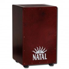 Natal Drums CJAN-L-SW-BR Cajon Large Black With Dark Red Panel
