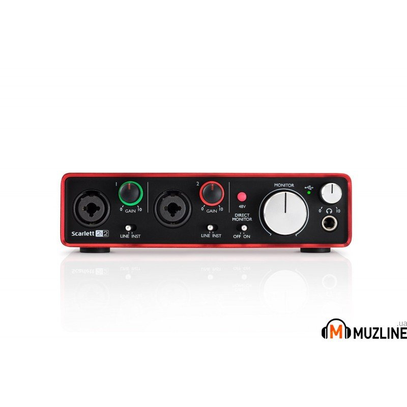 USB звуковая карта Focusrite Scarlett 2i2 New