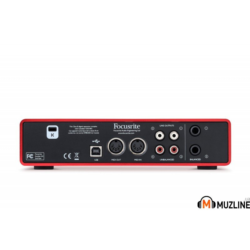 USB звуковая карта Focusrite Scarlett 2i4 New