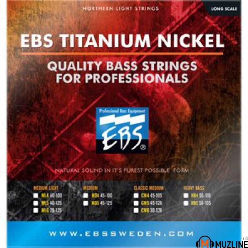 EBS TN-ML 6-strings (25-125) Titanium Nickel