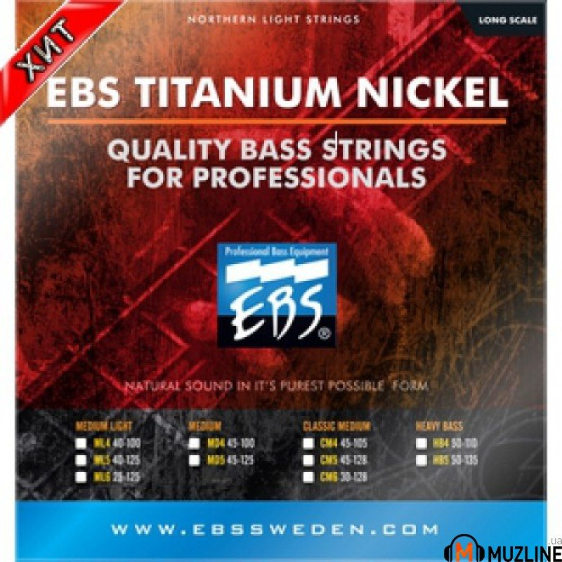 EBS TN-CM 5-strings (45-128) Titanium Nickel