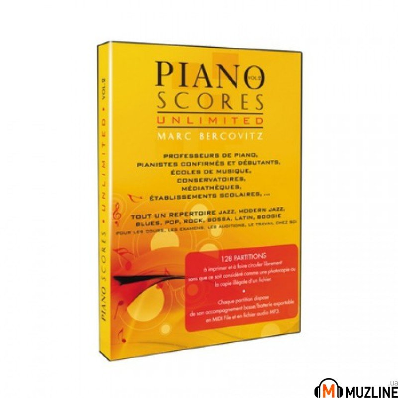 Программное обеспечение Prodipe Piano Scores Unlimited Vol 2. Marc Bercovitz