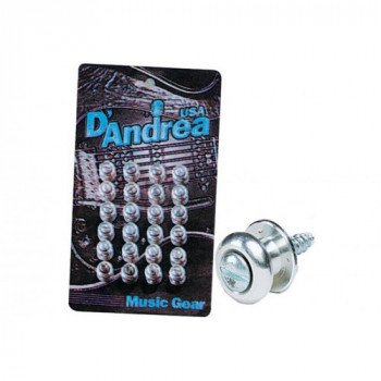 Стреплок для ремня D'Andrea Guitar Buttons Chrome EP-24C