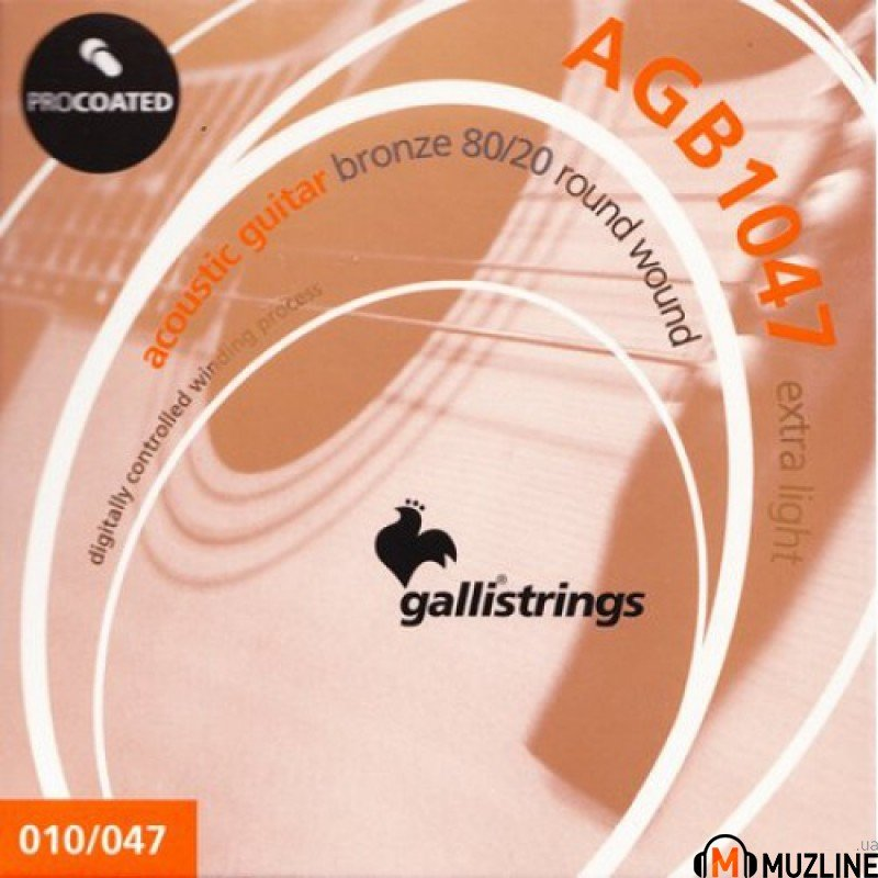 Galli PROcoated AGB1047-12 12-Strings Light