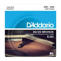 D'Addario EJ62 Mandolin 80/20 Bronze Light 10-34