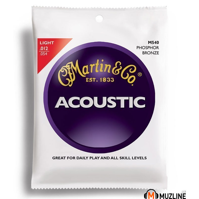 Martin M540 Traditional Acoustic 92/8 Phosphor Bronze Light (12-54)
