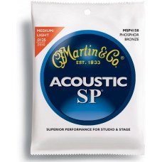 Martin MSP4150 SP Acoustic 92/8 Phosphor Bronze Light/Med (12.5-55)