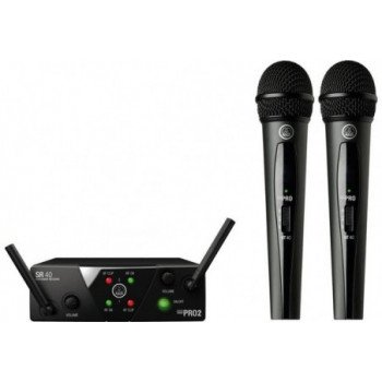 Радиосистема с ручным микрофоном AKG WMS40 Mini 2 Vocal Set BD ISM2/3 EU/US/UK