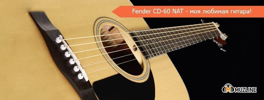 Fender CD-60 NAT купить